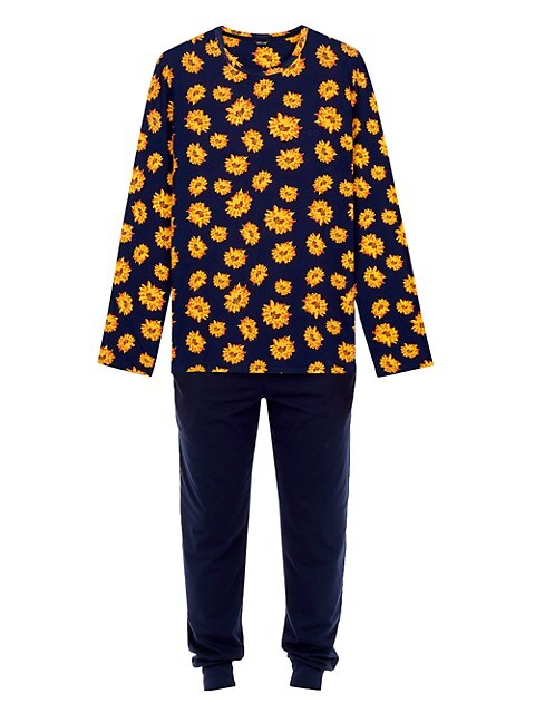 Luber 2-Piece Long-Sleeve Top & Pants Pajama Set