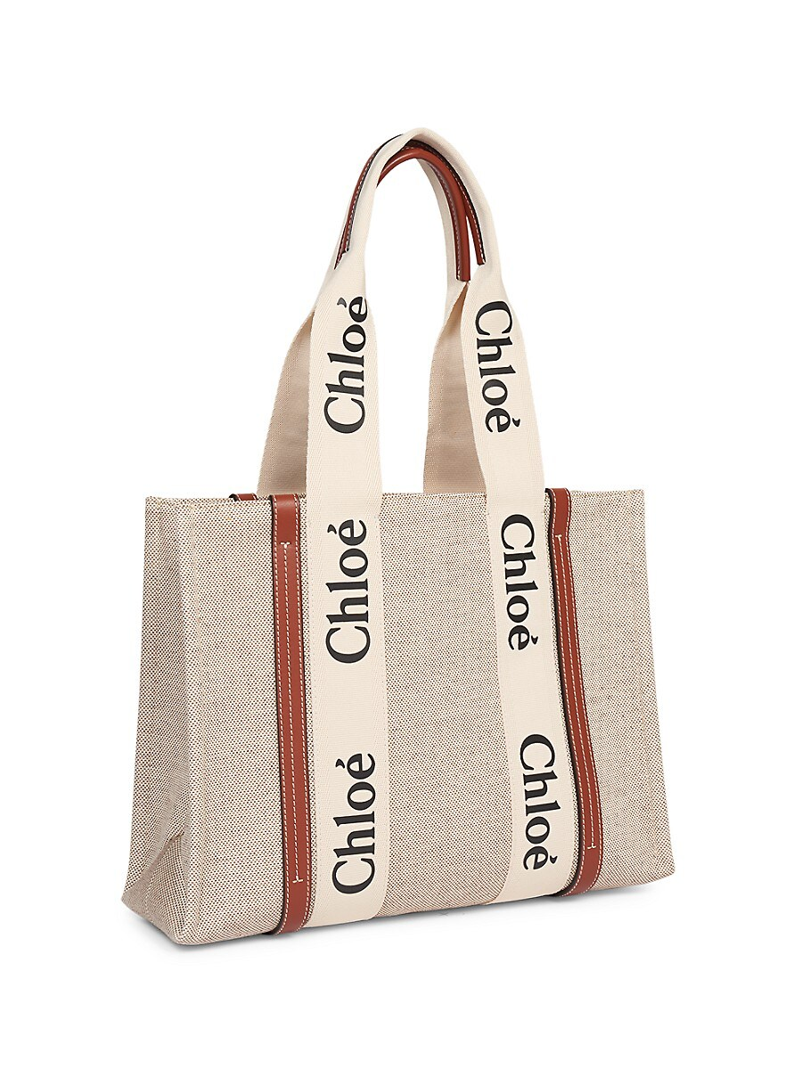 CHLOÉ Canvases WOMEN'S MEDIUM WOODY CANVAS TOTE