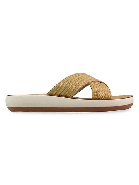 Thais Raffia Flatform Sandals