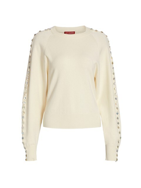 Thallo Button-Sleeve Sweater