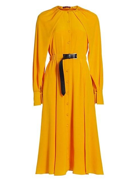 Liana Belted Silk Shirtdress