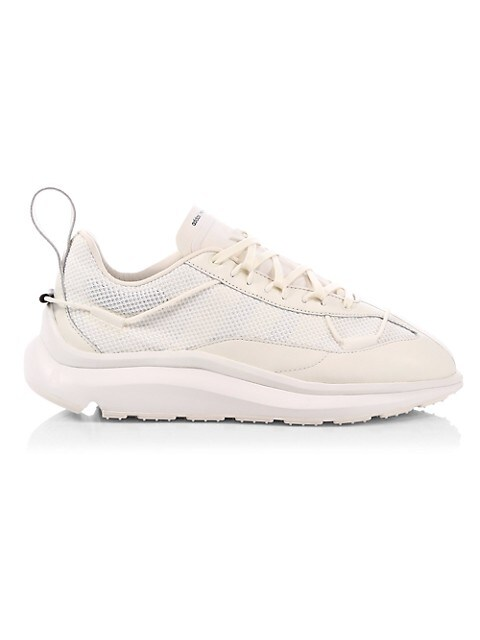 Mix Media Leather Chunky Sneakers