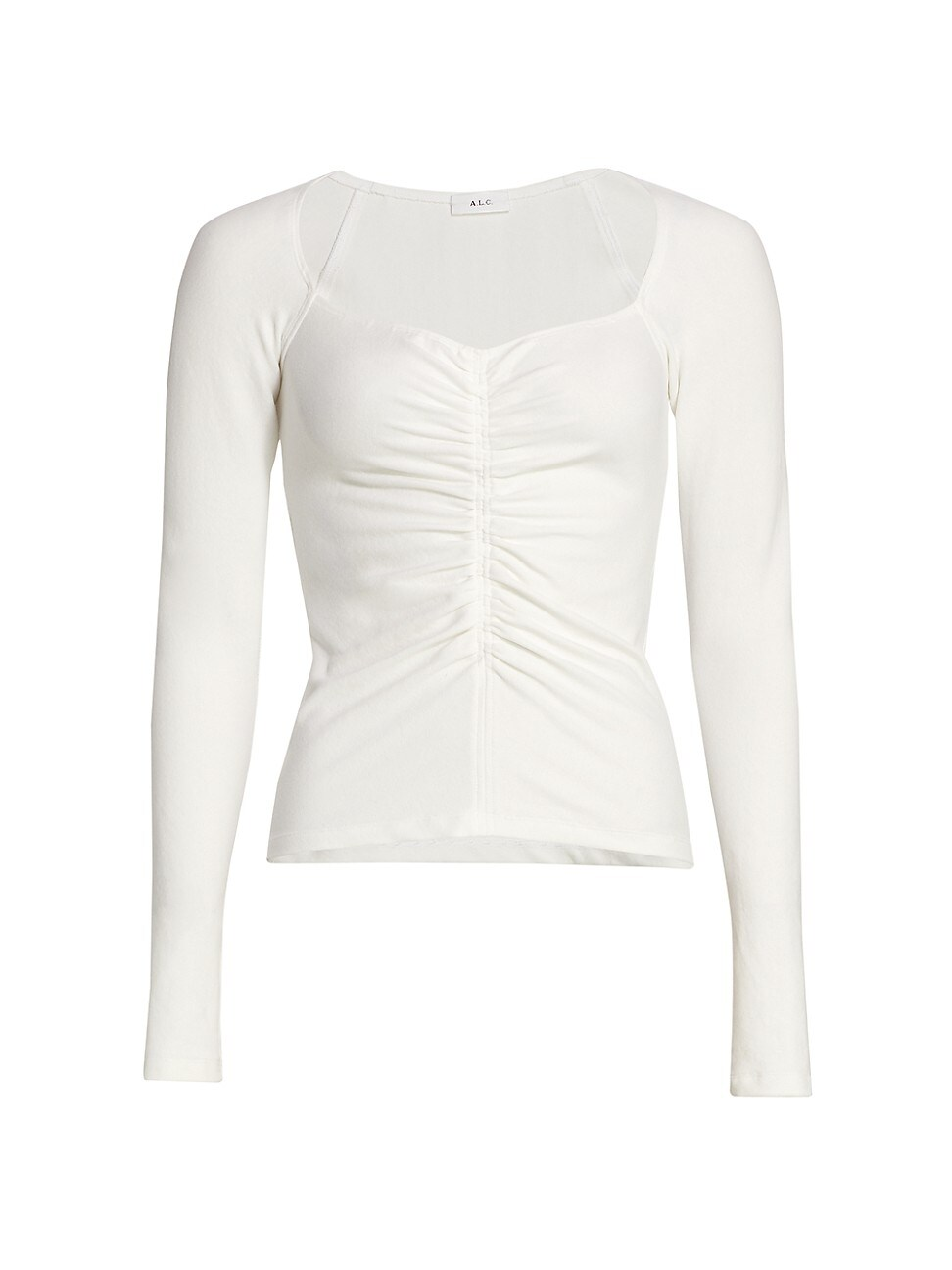 A.l.c WOMEN'S HALLEY RUCHED LONG-SLEEVE T-SHIRT