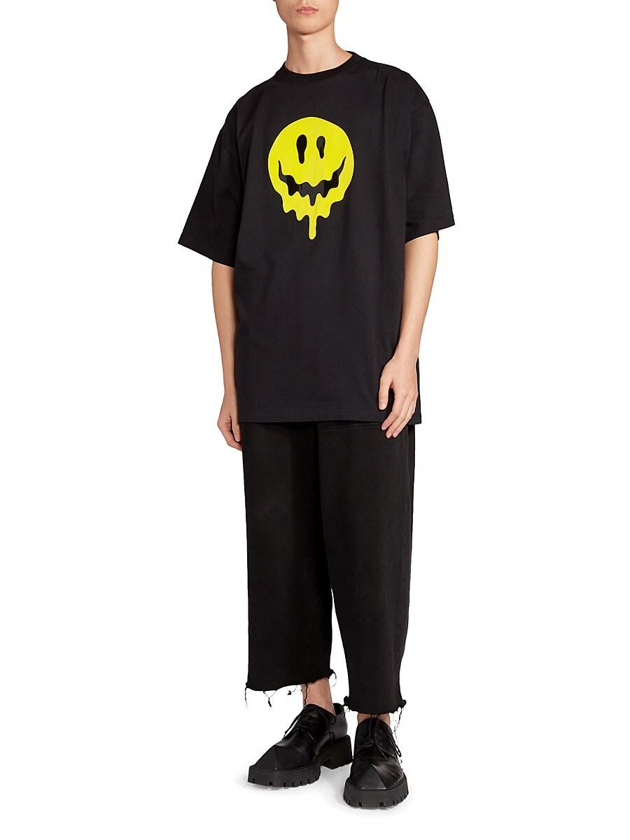 BALENCIAGA T-shirts MEN'S LARGE FIT GRAPHIC T-SHIRT