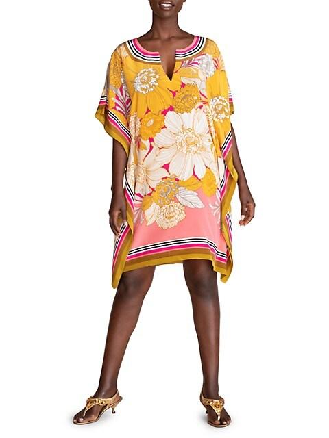 Theodora Floral Silk Dress