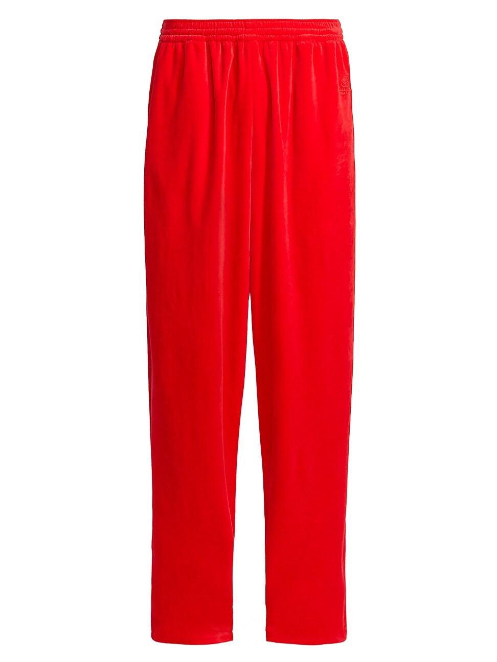 Balenciaga MEN'S VELOUR TRACKSUIT PANTS
