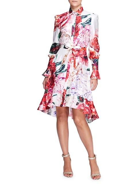 Floral Silk Shirtdress