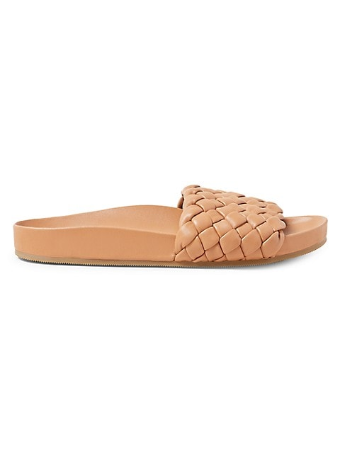 Sonnie Woven Leather Slides