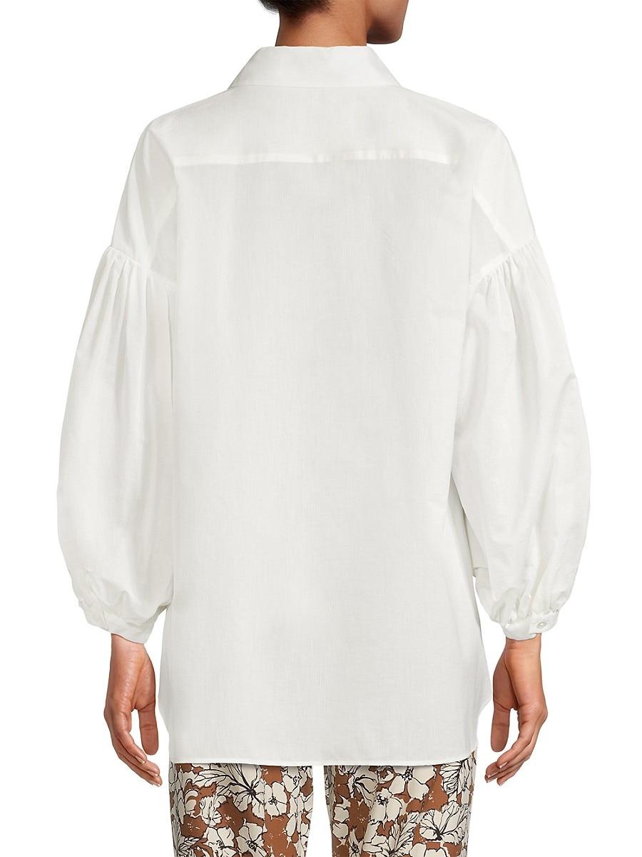 WEEKEND MAX MARA Shirts WOMEN'S BALEARI STRIPE TIE-WAIST SHIRT