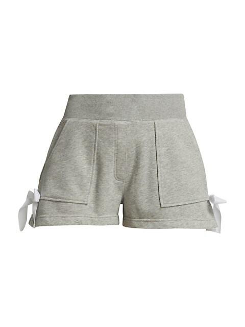 Jay Tie Detail Heathered Shorts