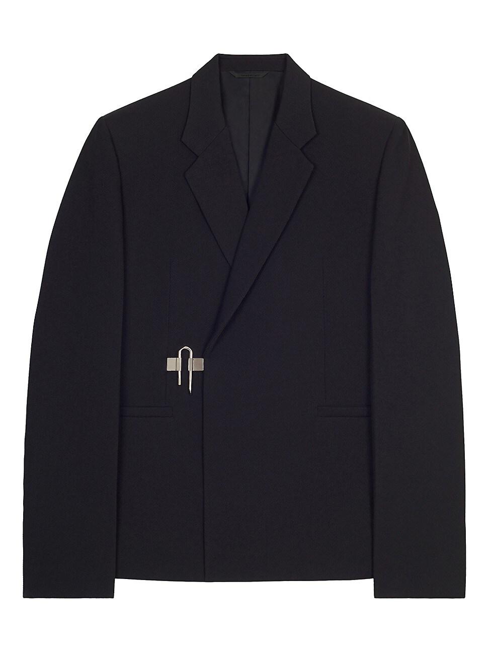 Givenchy Wools MEN'S PADLOCK-CLOSURE WOOL BLAZER