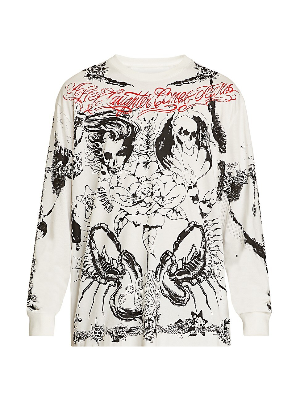 Givenchy Cottons MEN'S OVERSIZED TATTOO GRAPHIC SWEATSHIRT