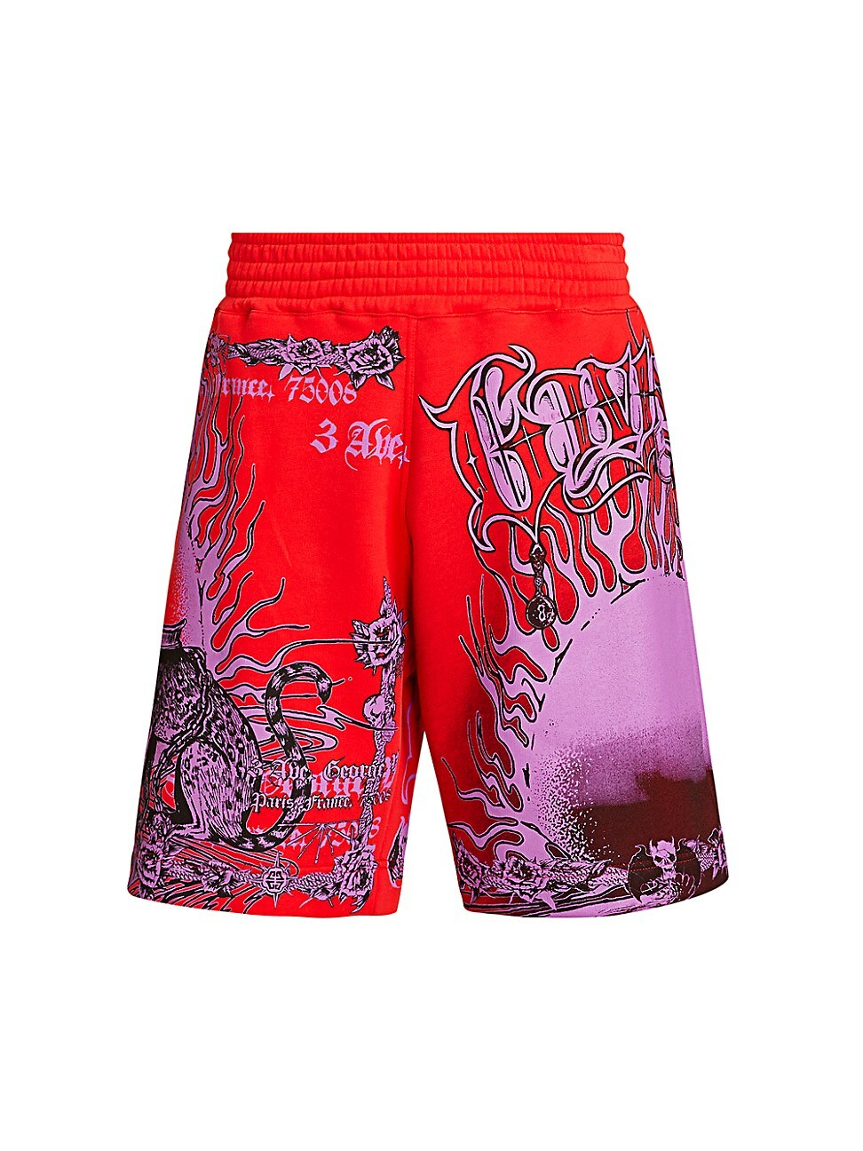 Givenchy Cottons MEN'S ULTRA PURPLE GRAPHIC SHORTS