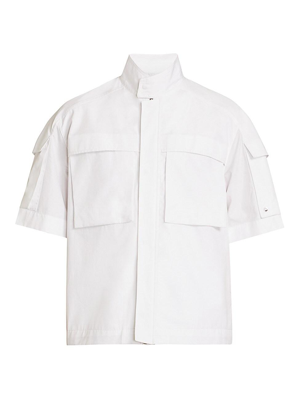 Givenchy Cottons MEN'S WORKWEAR SNAP & ZIP POCKET SHIRT