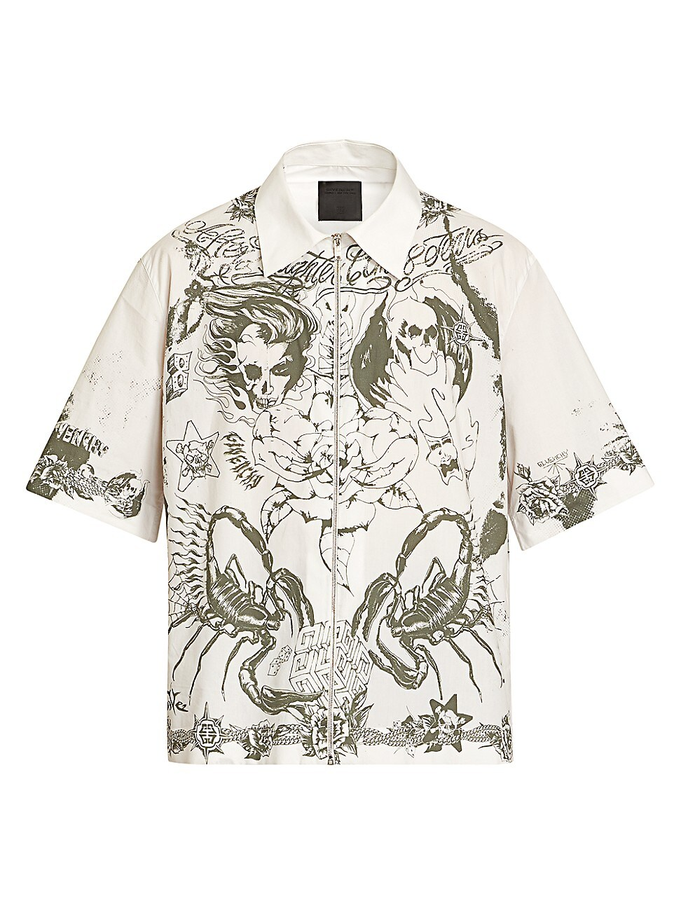Givenchy Cottons MEN'S SHORT-SLEEVE GRAPHIC PRINT SHIRT