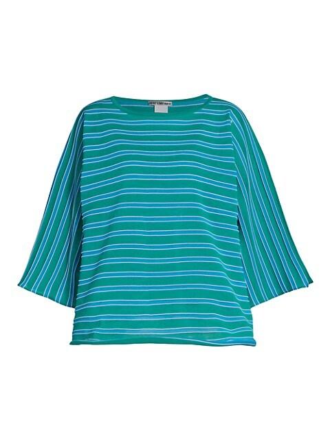 Crispy Stripe Cropped T-Shirt