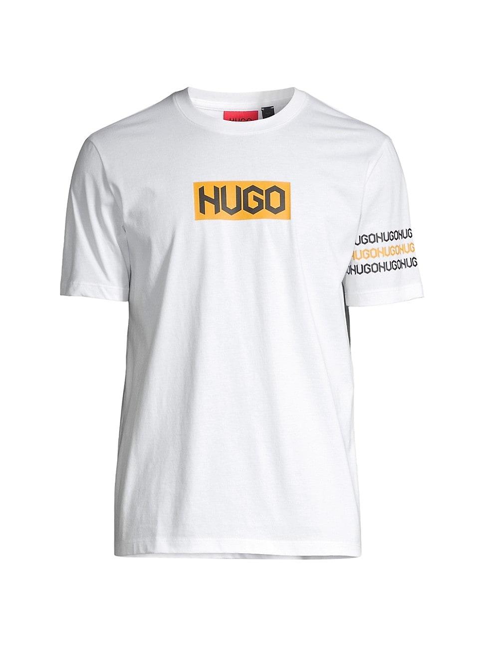 Hugo MEN'S DAKE TIRE-PRINT LOGO T-SHIRT