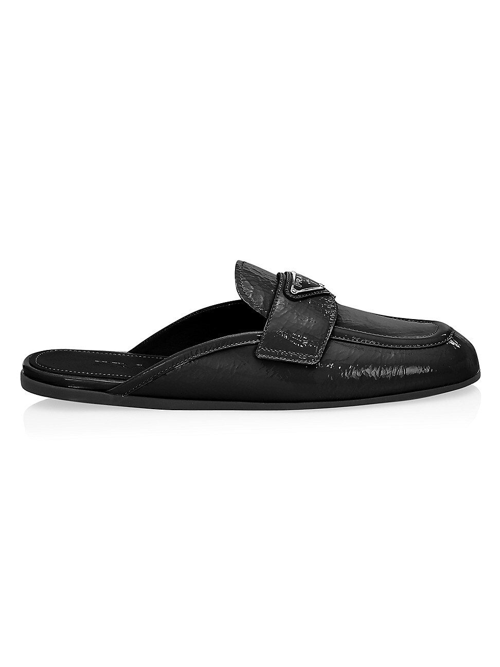 Prada WOMEN'S PATENT LEATHER LOAFER MULES