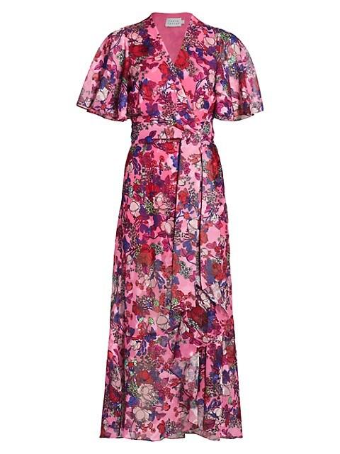 Blaire Floral Midi Wrap Dress
