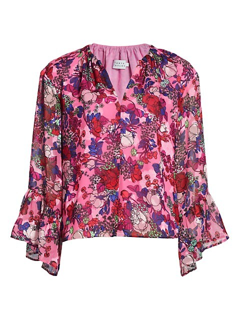 Harper Floral Bell-Sleeve Top