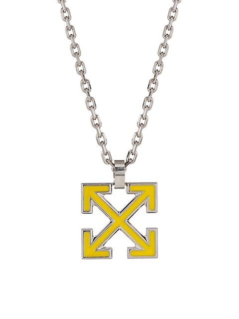 Goldtone Arrow Pendant Necklace