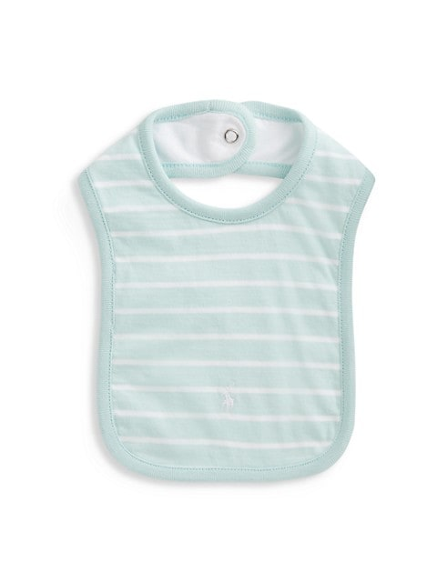 Embroidered Stripe Bib