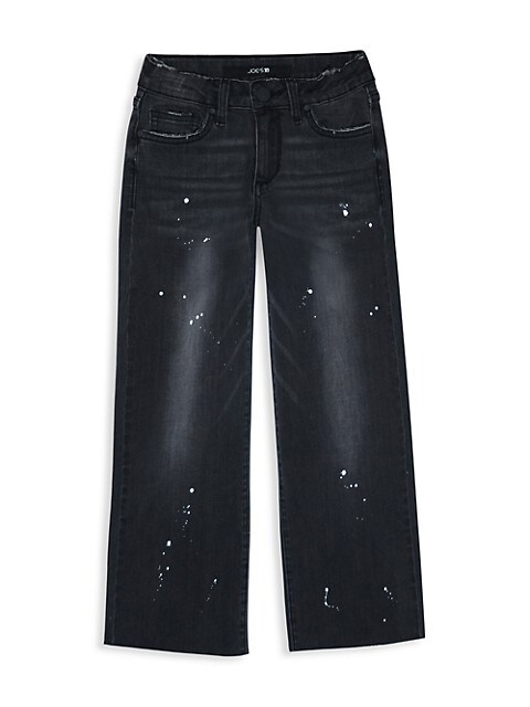 Girl's Wide-Leg Paint Splatter Jeans