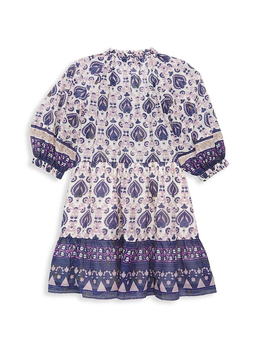 SEA Cottons LITTLE GIRL'S & GIRL'S BRIGITTE BOHO-PRINT A-LINE DRESS