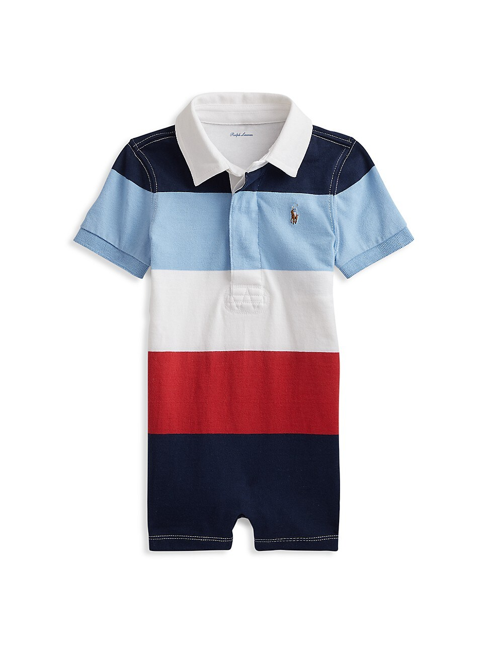 Ralph Lauren BABY BOY'S STRIPED SHORTALL