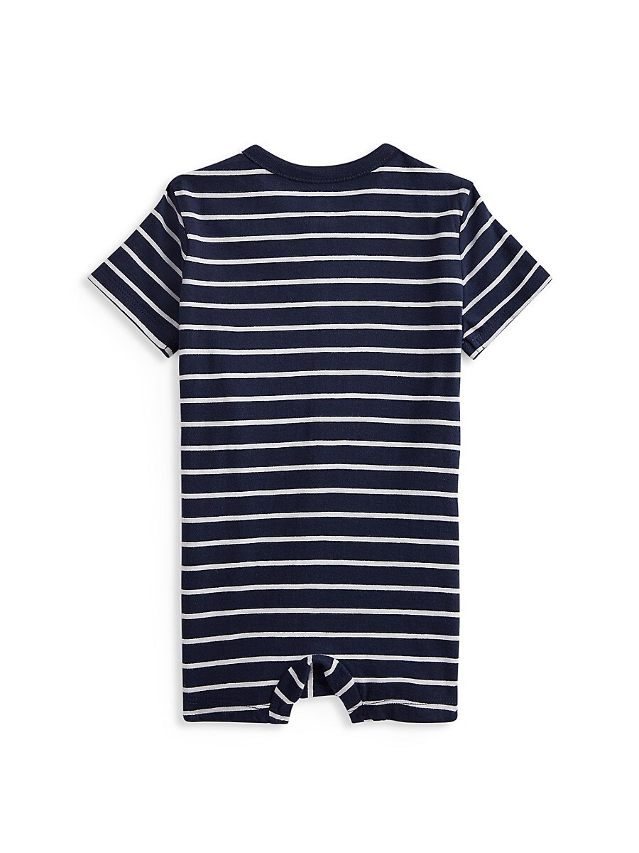 RALPH LAUREN Climbing clothes BABY BOY'S STRIPED SHORTALLS
