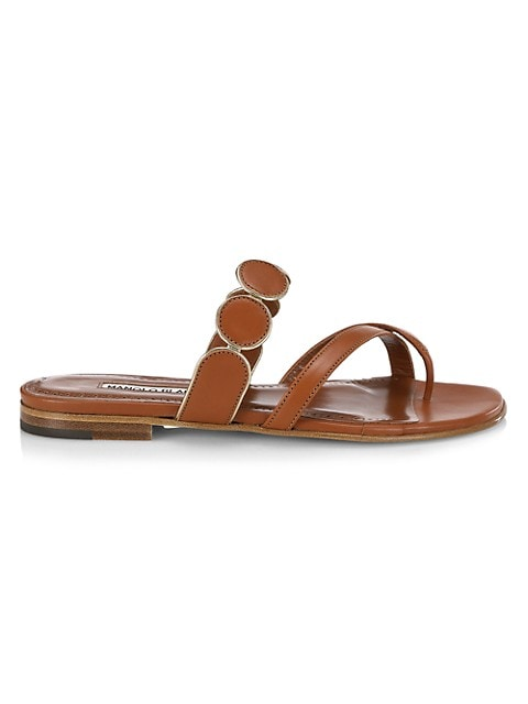 Harisa Leather Thong Sandals