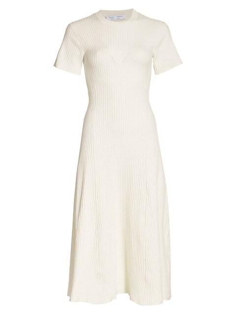Cutout Back Ribbed Knit Dress
