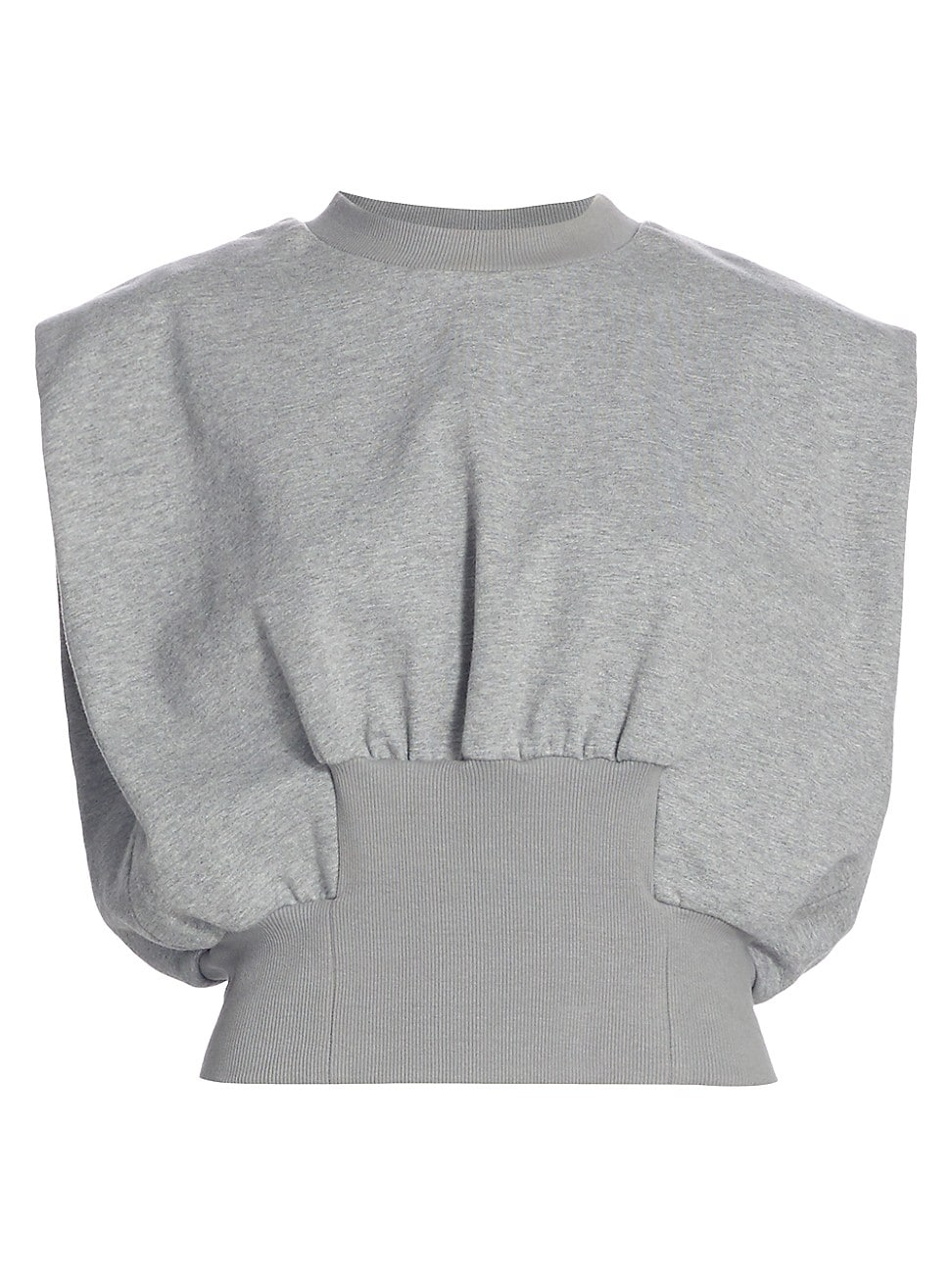 3.1 Phillip Lim WOMEN'S FRENCH TERRY SHIRRED TOP