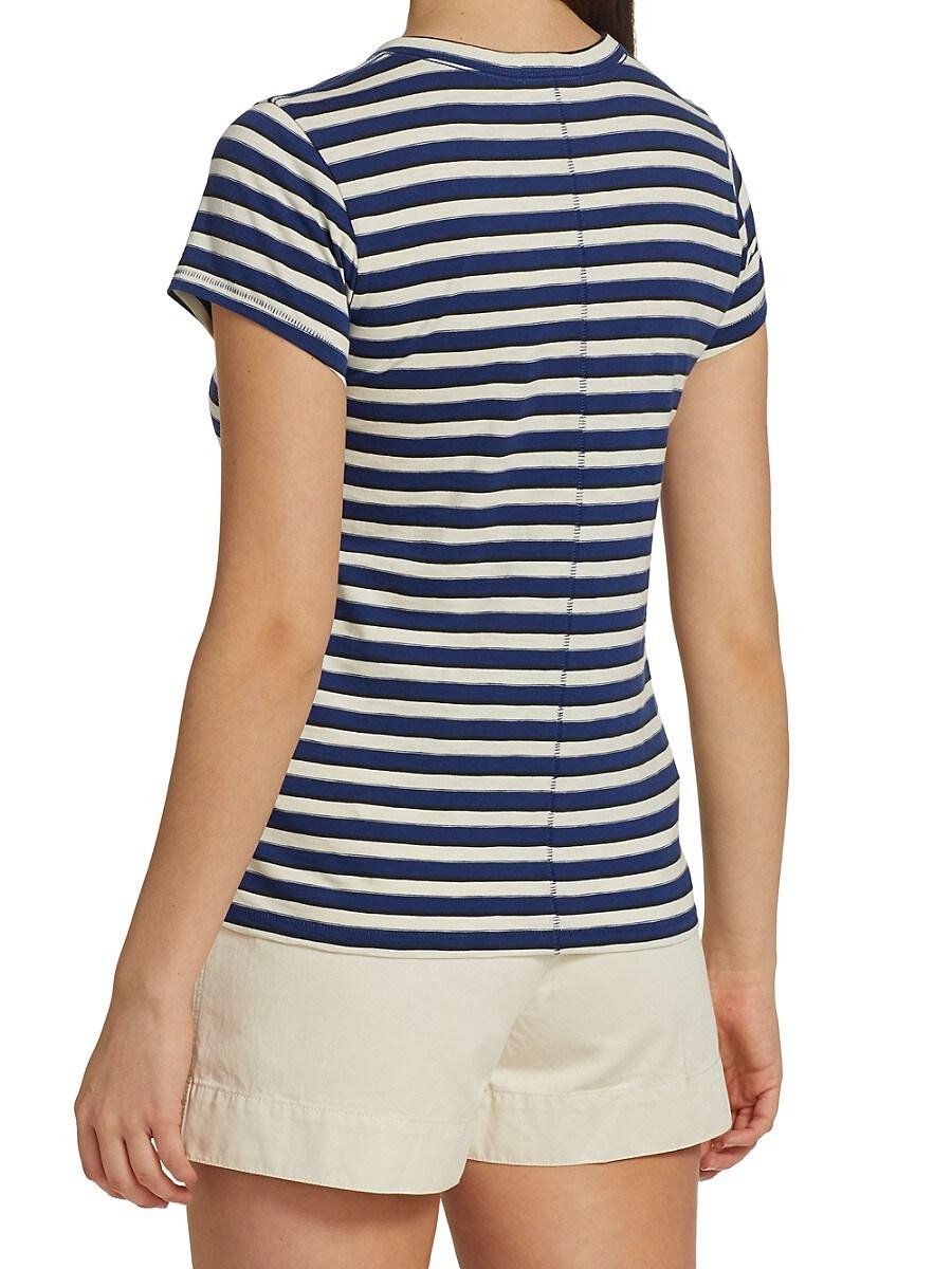 RAG & BONE T-shirts WOMEN'S THE SLUB STRIPED T-SHIRT