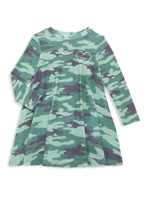 Little Girl's & Girl's Camo Hacci Dress