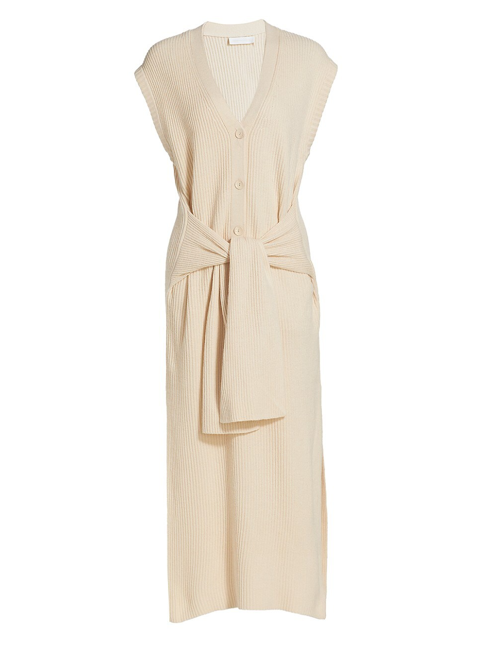 Jonathan Simkhai WOMEN'S ANNETTE RIB-KNIT TIE-WAIST HENLEY DRESS