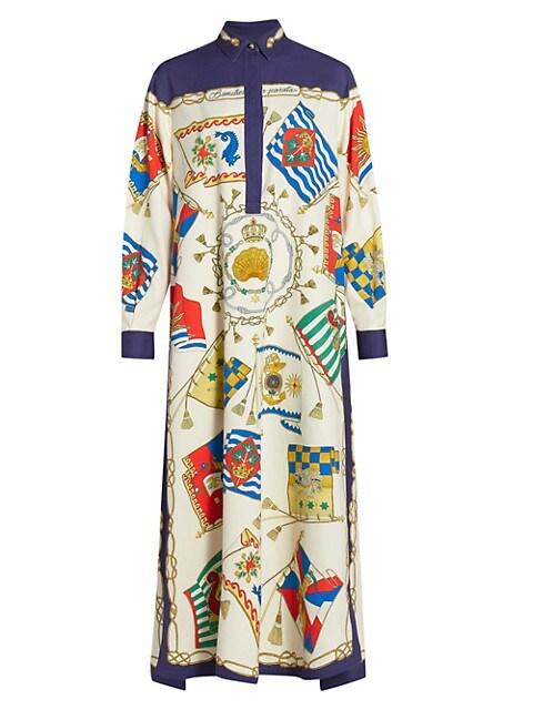 Ponza Parade Flag-Print Cotton Dress