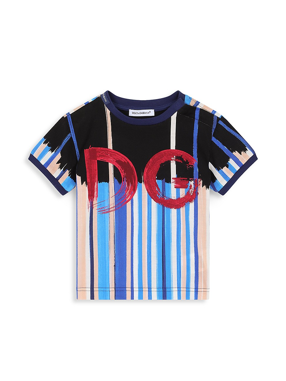 Dolce & Gabbana Cottons BABY BOY'S BRUSHSTROKE DG T-SHIRT
