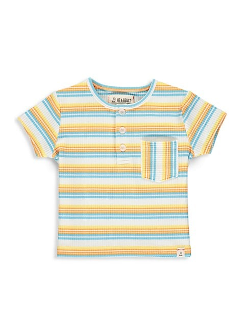 Boy's Ribbed Stripe Henley