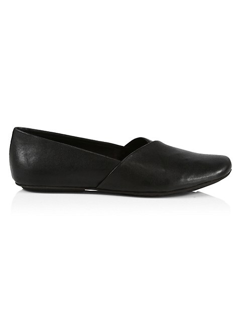 Ellory Square-Toe Leather Flats