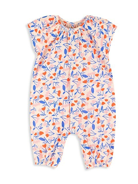 Baby Girl's Floral Cotton Coverall