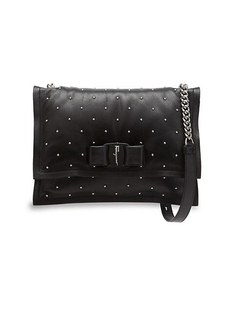Viva Studded Leather Shoulder Bag