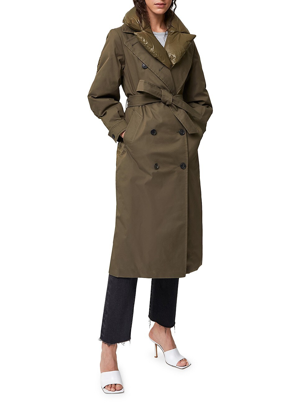 Mackage WOMEN'S SAGE DOUBLE-BREASTED DOWN TRENCH COAT