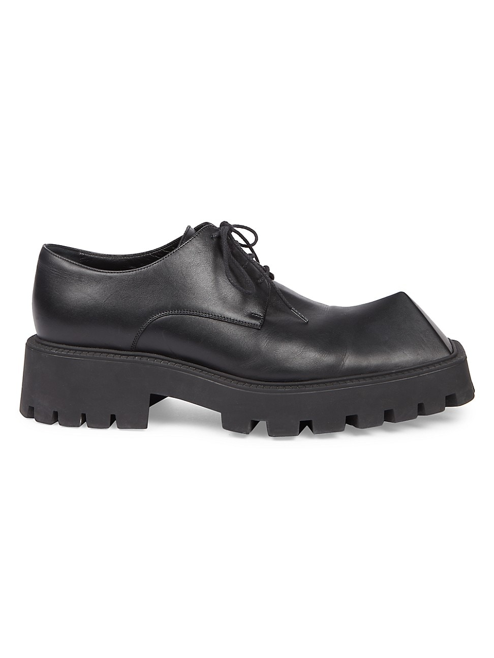 Balenciaga Leathers MEN'S RHINO LEATHER PLATFORM DERBY SHOES