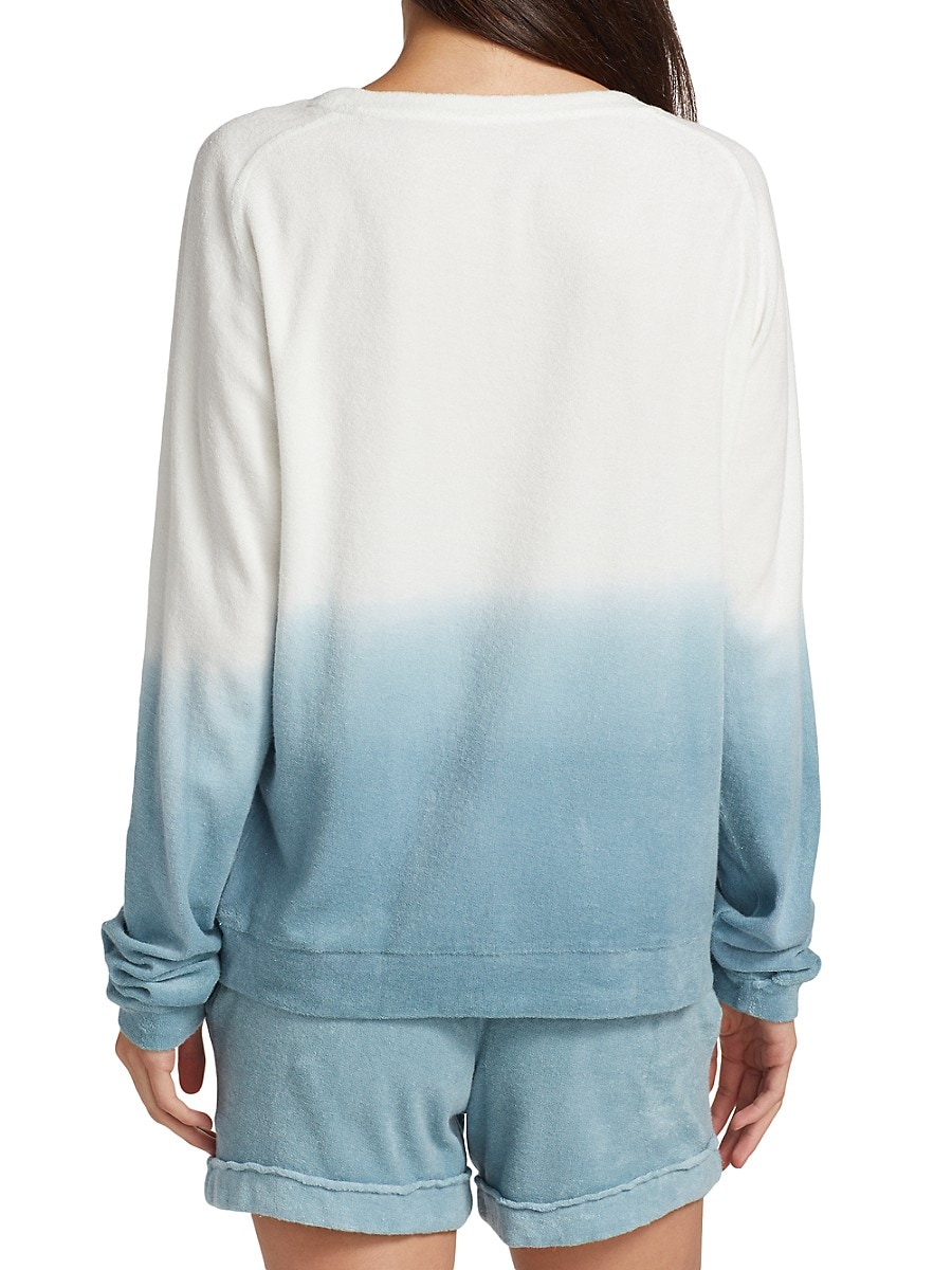 MAJESTIC Cottons WOMEN'S TERRY OMBRÉ PULLOVER