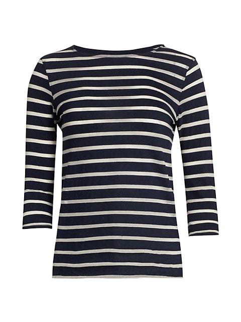 Striped Cotton Bracelet-Sleeve Top