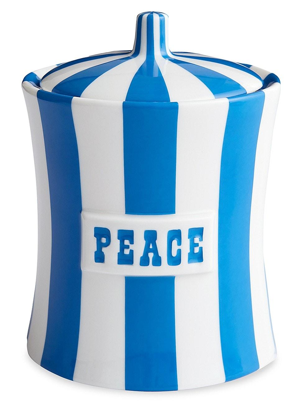 Jonathan Adler VICE STRIPE PEACE CANISTER
