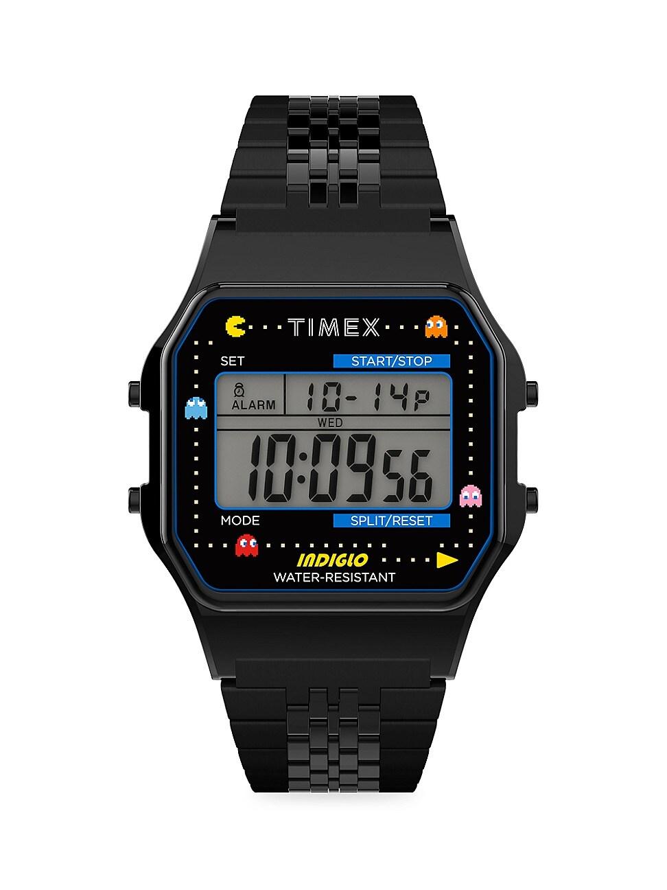 TIMEX T80 X PAC-MAN™ STAINLESS STEEL BRACELET WATCH