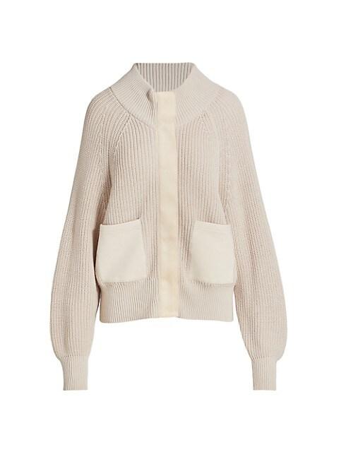 Delfren Highneck Zip-Up Sweater