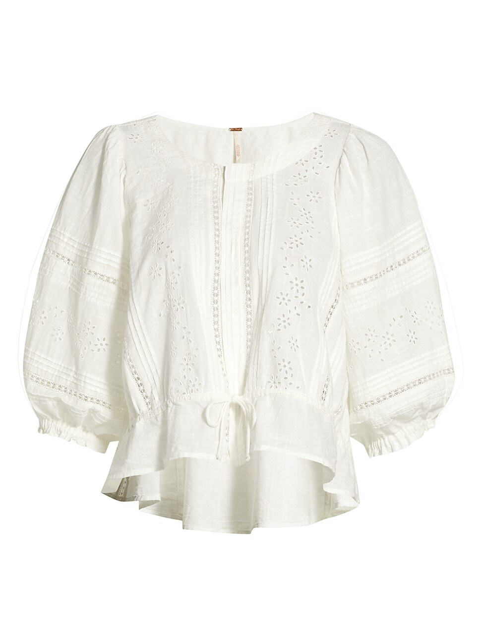 Free People Cottons WOMEN'S DAISY CHAINS EYELET TOP